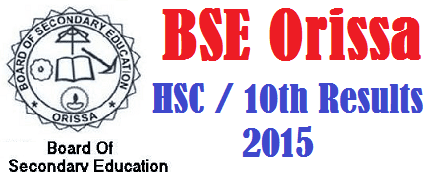BSE Odisha OBSE HSC 10th Results 2016