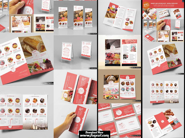 Bakery & Cupcake Shop - Bundle Templates التجميعة الاولى