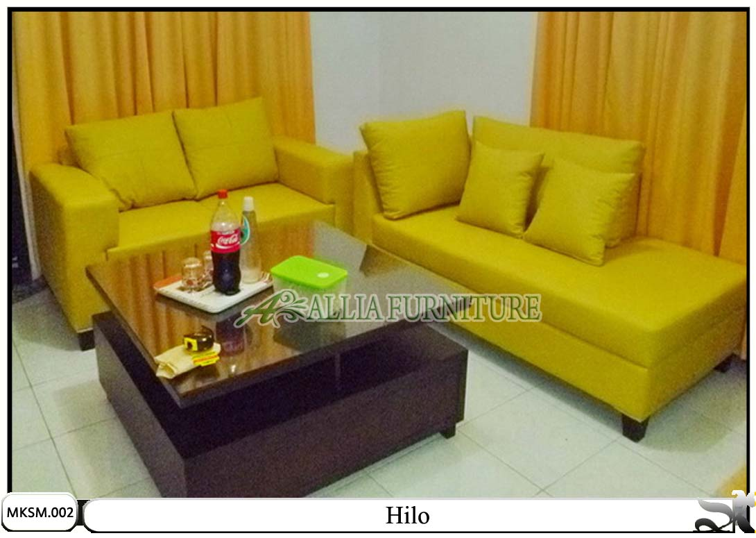 Kursi Sofa Set Minimalis Model Hilo Allia Furniture