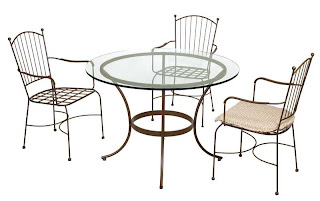 mesa terraza forja, sillas terraza forja, mueble jardin, mueble terraza forja