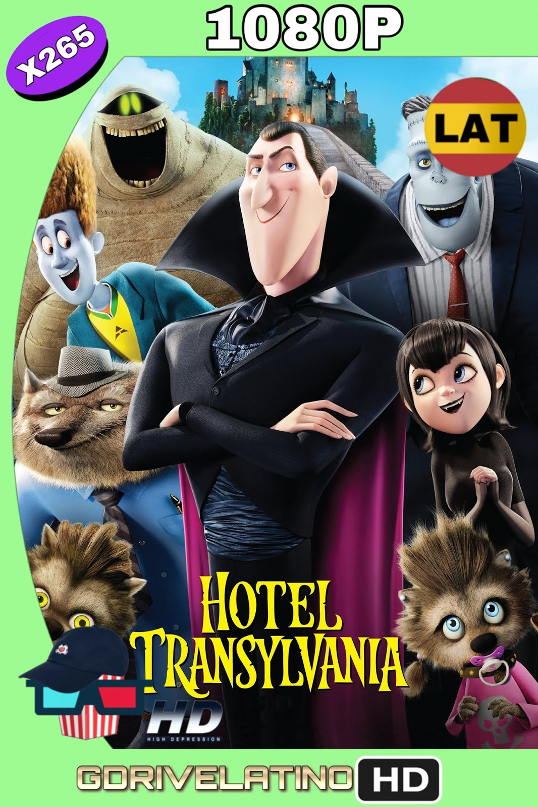 Hotel Transylvania (2012) BDRip FULL 1080p ( HEVC x265) (Latino-Inglés) MKV