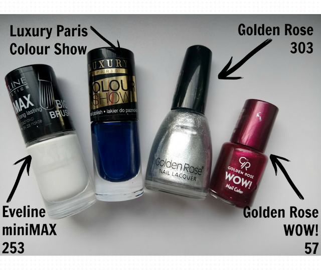 Eveline miniMAX 253, Luxury Paris, Golden Rose 303, Golden Rose WOW! 57