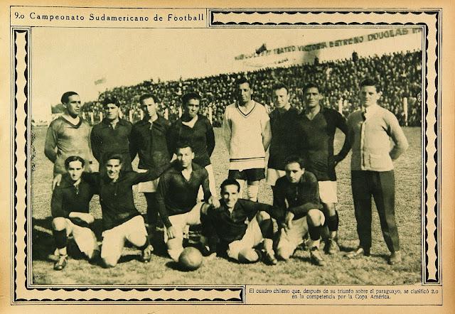 Formación de Chile ante Paraguay, Campeonato Sudamericano 1926, 3 de noviembre
