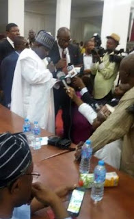 PDP swears in New PDP Chairman Ali Modu Sheriff .