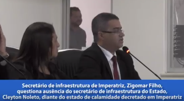 Secretário Zigomar Filho quer saber, cadê o Secretário Clayton Noleto???