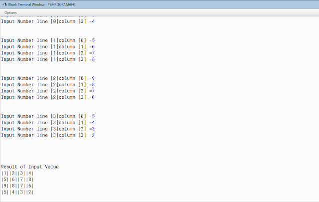 Examples of java program 2 dimensional rows and columns: