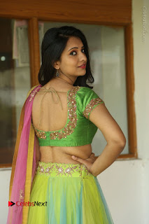 Actress Nikitha Bisht Stills in Lehenga Choli at Pochampally Ikat Art Mela Launch  0033.JPG
