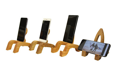 Smartphonehalter Holz