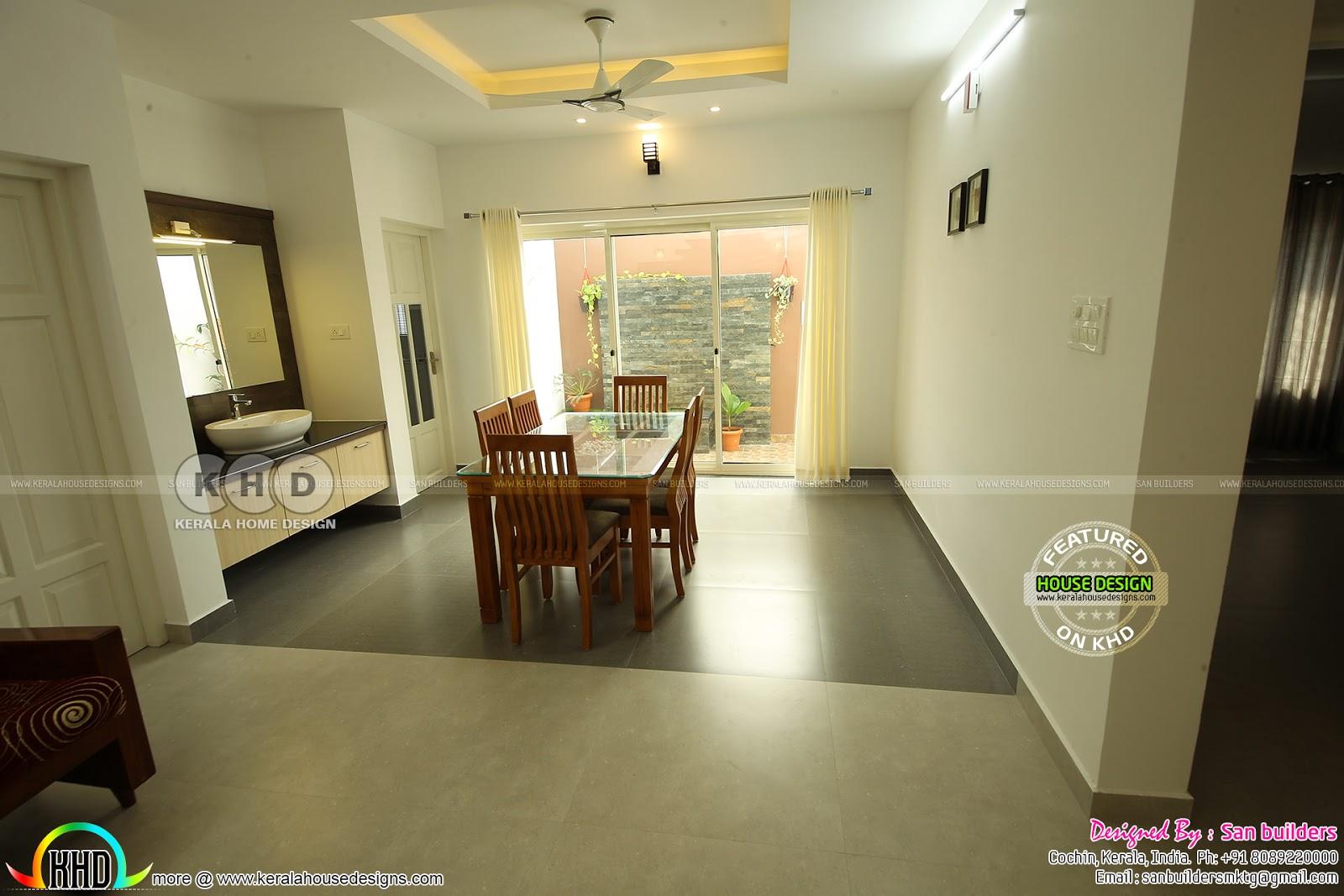 Furnished Single Floor Kerala Home Design 1616 Sq Ft