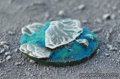 Peana alien con 'Turquesa Neptuno'
