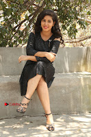 Telugu Actress Pavani Latest Pos in Black Short Dress at Smile Pictures Production No 1 Movie Opening  0041.JPG