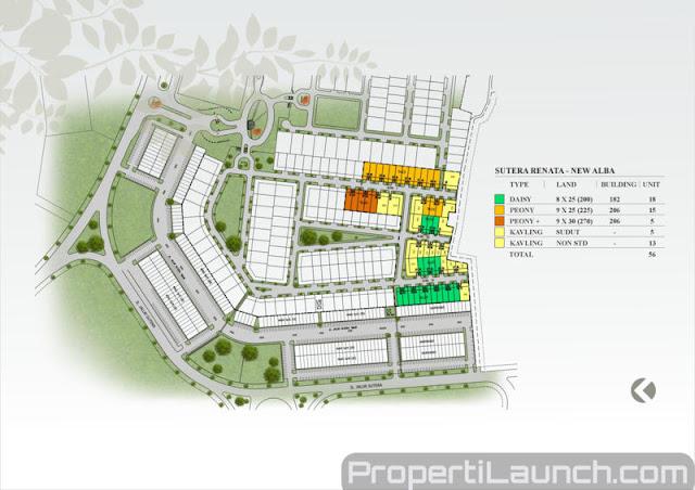 Site Plan Cluster New Alba Alam Sutera