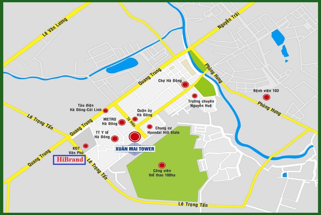 Vị trí liền kề hibrand Cleve Văn Phú