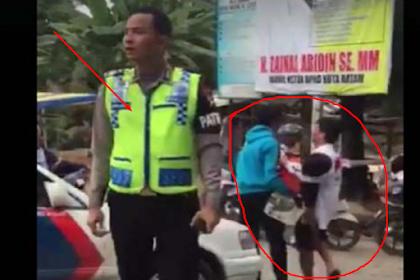 Viral, Video Oknum Polisi Enggan Menolong Korban Kecelekaan Parah Dibatam, Dikecam Netizen
