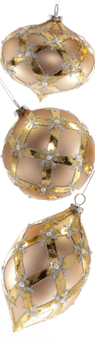 Katherine's Collection Royal White Christmas Collection Bauble Ornaments