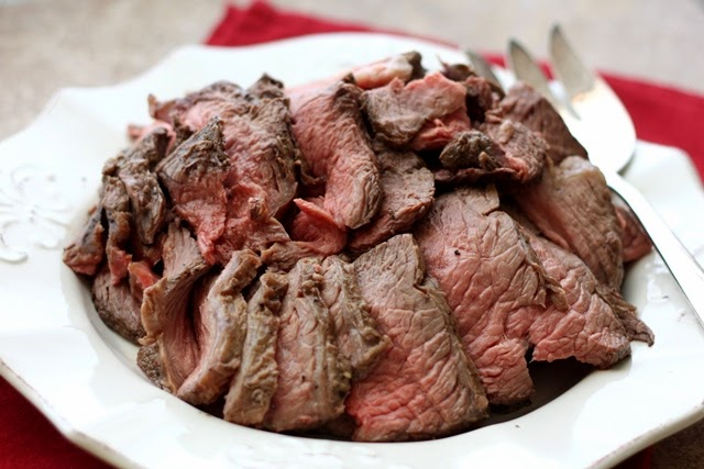 Perfectly Simple and Sliceable CrockPot Roast Beef from Barefeet in the Kitchen featured on SlowCookerFromScratch.com