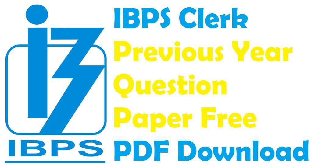 Ibps Clerk Prelims Model Papers Pdf