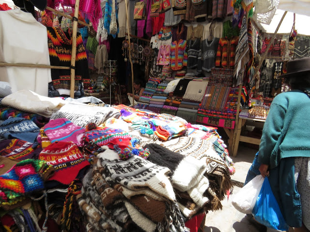 3 days in Cusco: Knitted crafts for sale at Pisaq Market, an easy day trip from Cusco in Peru
