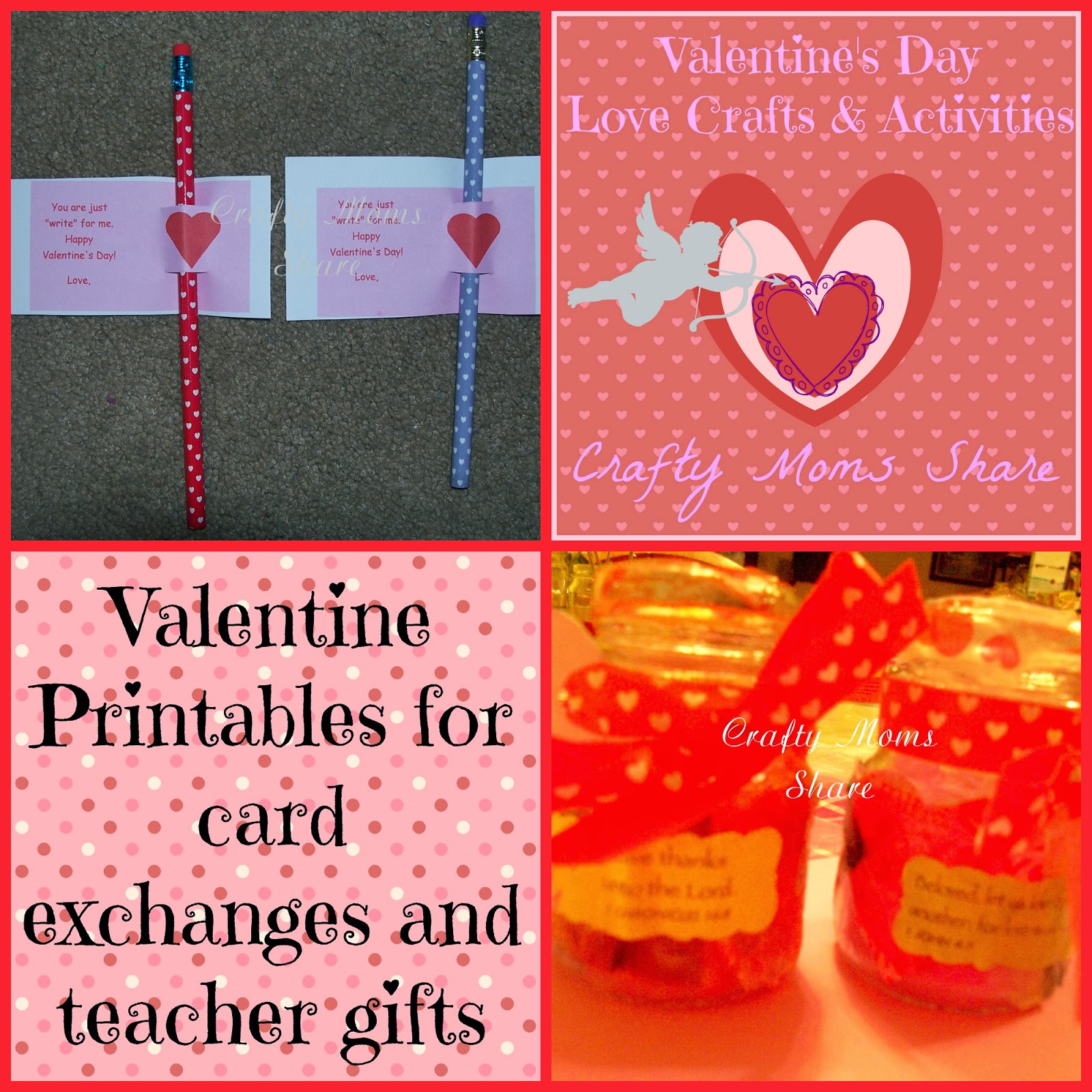Crafty Moms Share Free Valentine Printables For Cards And Ts