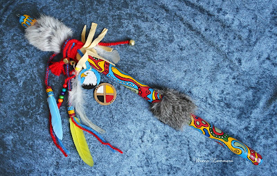 "Talking Stick ""Heyoka Rabbit"""