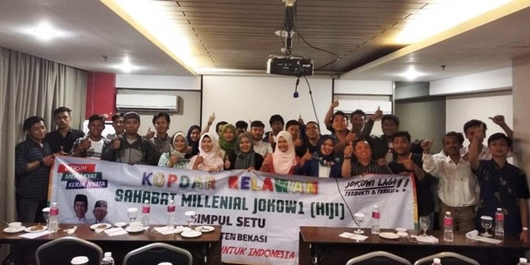 Dukung Jokowi-Ma'ruf, Kelompok Millenial di Jabar Telusuri Rekam Jejak