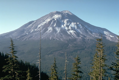 Mount St. Helens, one day before the devastating eruption