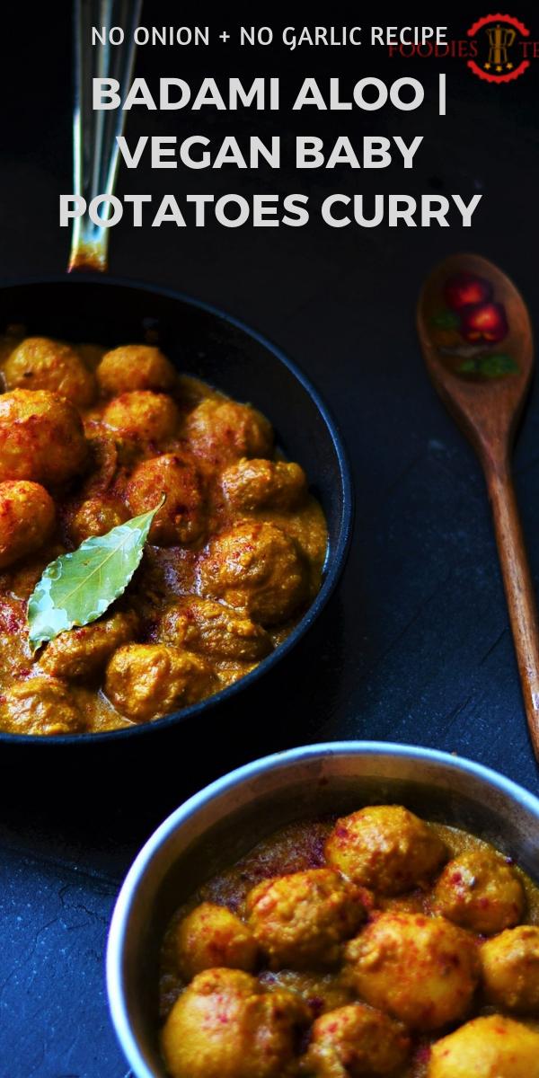 Niremishi Aloor dom, niremishi alur dom, bengali aloor dom, Alu Dum recipe, Dum alu recipe, Indian Alu dum recipe, badami aloo dum recipe, no onion no garlic recipe, fasting recipe, no onion no garlic alu recipe, alu sabzi recipe, aloo sabzi recipe, baby potatoes recipe, vegan baby potatoes recipe, vegan recipes, bengali recipes, bengali vegetarian recipe, indian begetarian recipe, vegetarian recipe, festival recipe, navratri recipe, navratri fasting recipe.