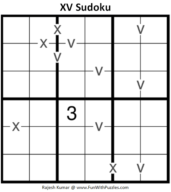 XV Sudoku (Mini Sudoku Series #93)