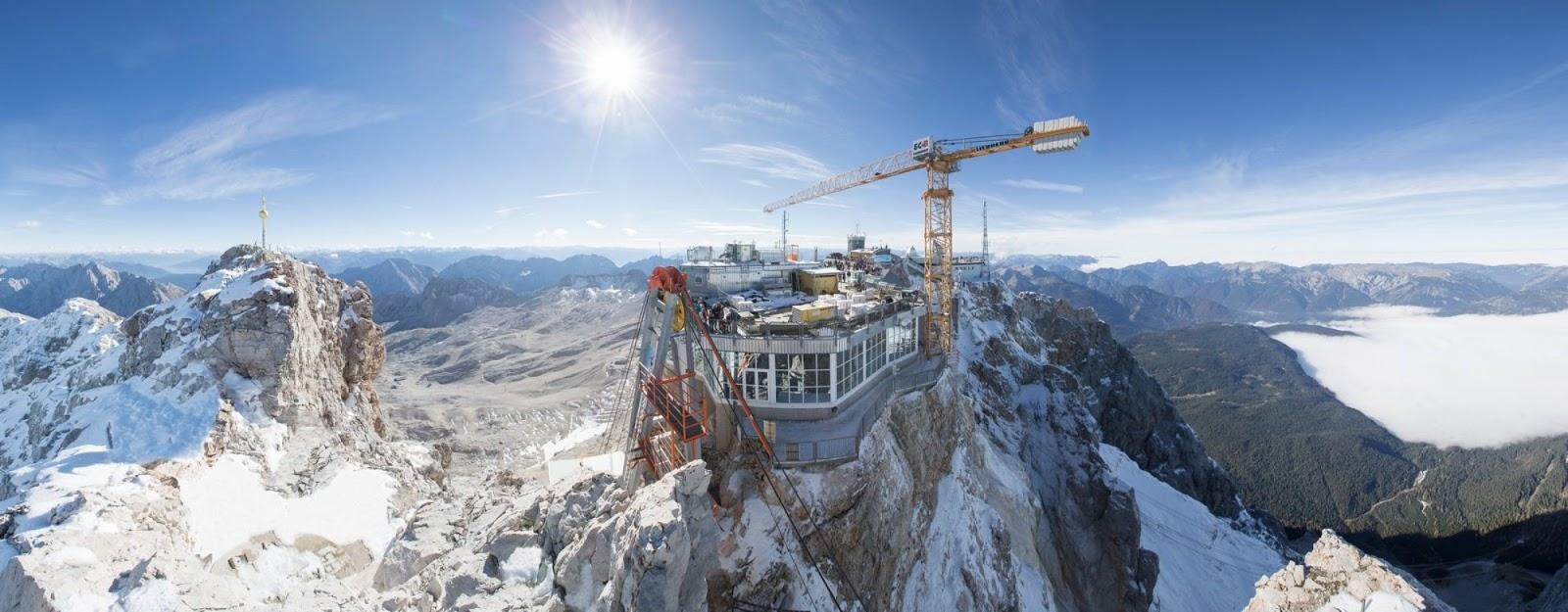 Nartomaniak Zugspitze Karkołomna Budowa Na Wysokościach