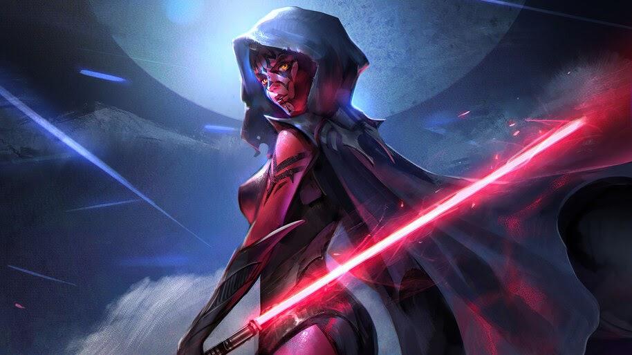 Darth Maul, Star Wars, Lightsaber, Female, 4K, #6.782