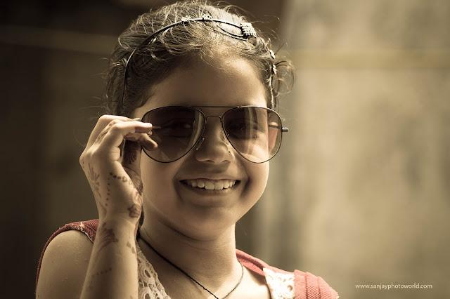 goggle girl smile