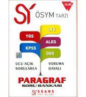Seans Yayınları Paragraf Soru Bankası (YGS,LYS,KPSS,ALES,DGS)