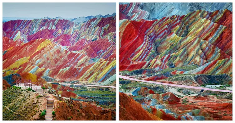 13 Pictures That Prove Mother Nature Is Messing With Us - Rainbow Mountains