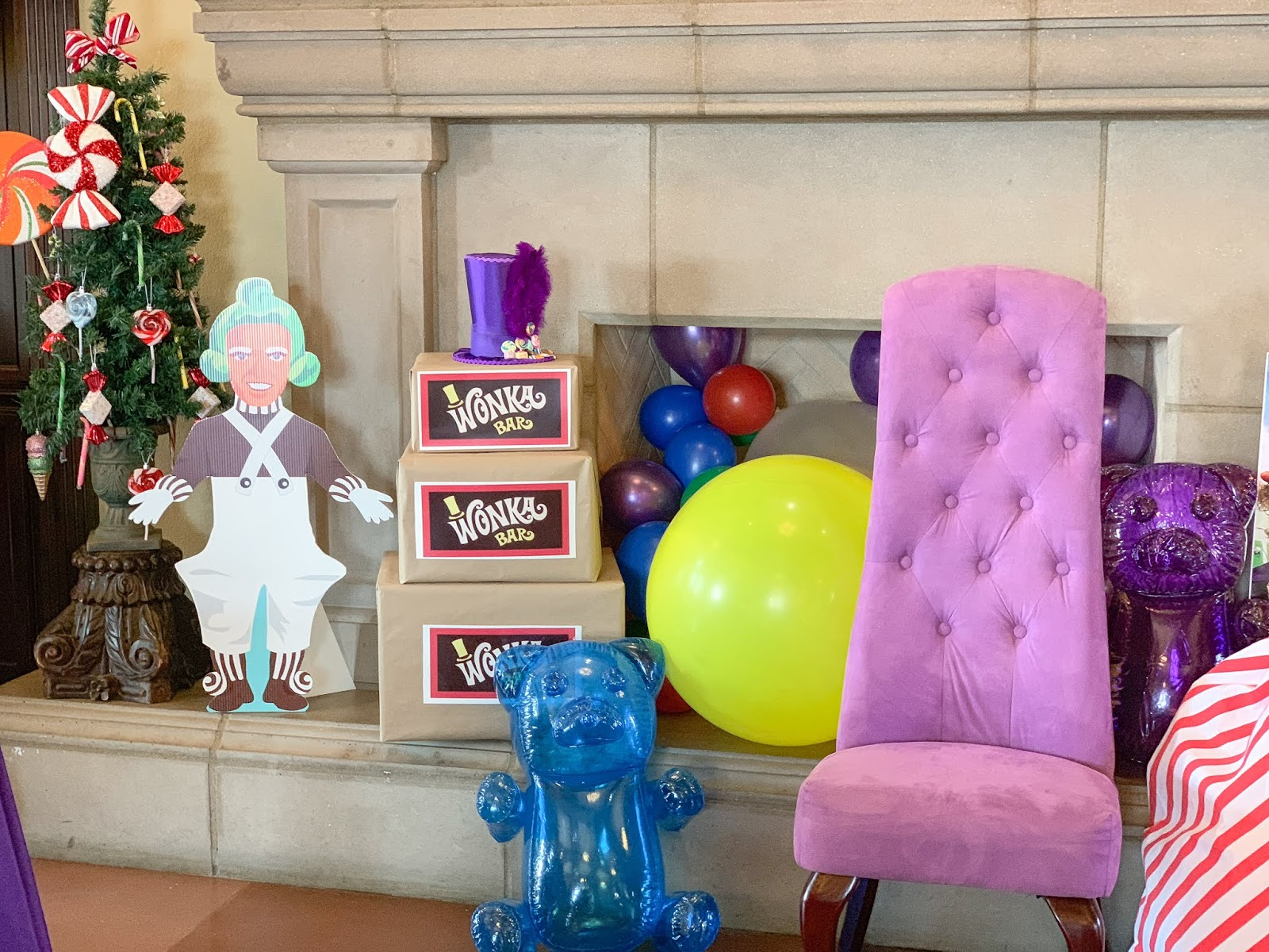 Willy Wonka Party decor, oompa loompa decor, willy wonka bar party