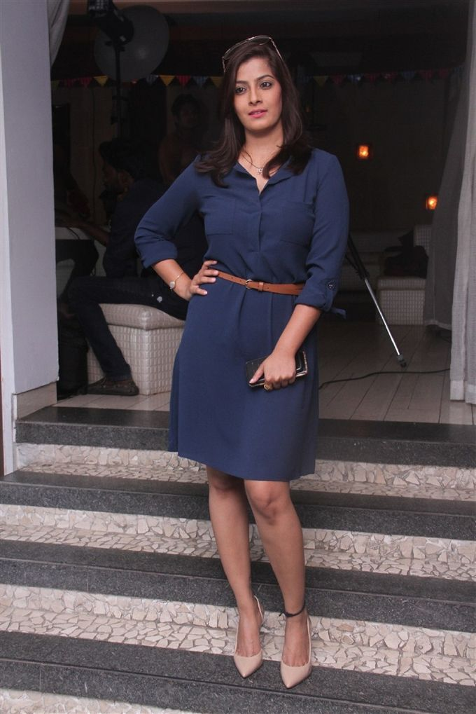 Varalaxmi Sarathkumar In Blue Dress