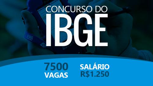 IBGE 2016 Abre Concurso para 7500 Vagas