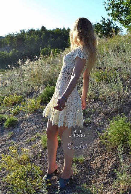 Patrón #1869: Como tejer vestido mujer a crochet