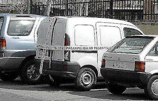 Furgoneta Renault Kangoo atribuida a los terroristas del 11M