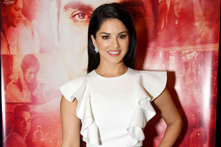 Sunny Leone and Arbaaz Khan at 'Tera Intezaar' Poster Launch Event