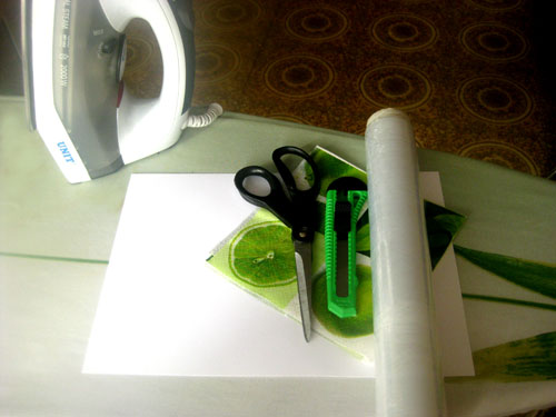 transferir papel a cartulina sin pegamentos