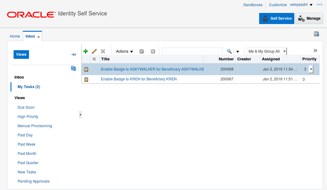 Oracle Stack: SOA Workflow Service Client Example: Fetch and
