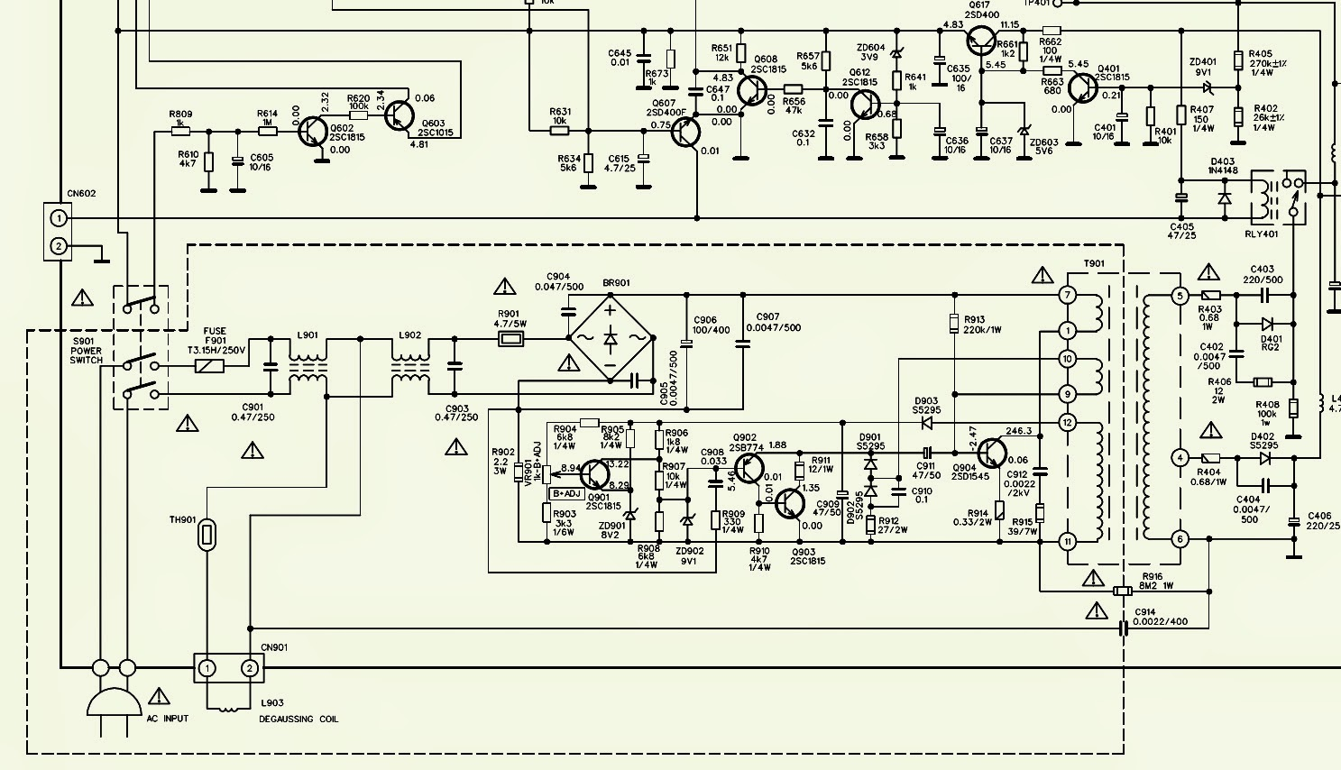 tv ph19d led tv power supply smps schematic circuit diagram 6000 power supply smps schematic circuit digram electro help [ 1487 x 854 Pixel ]