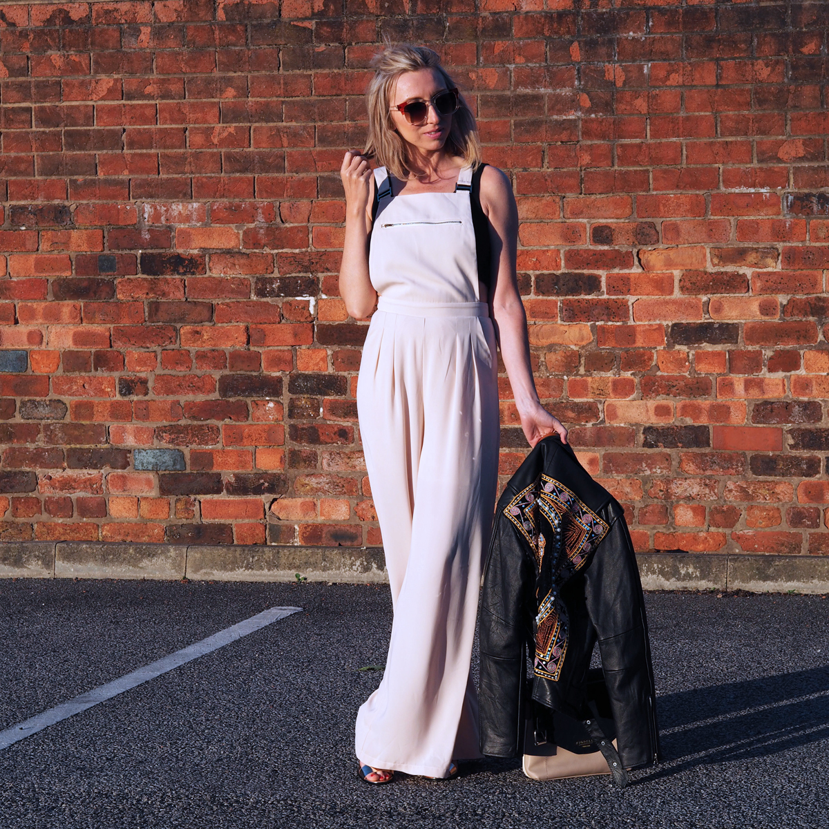 Little Mistress Cream Dungarees