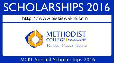 MCKL Special Scholarships 2016