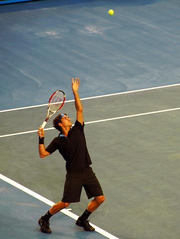 Waka Tennis: federer serve