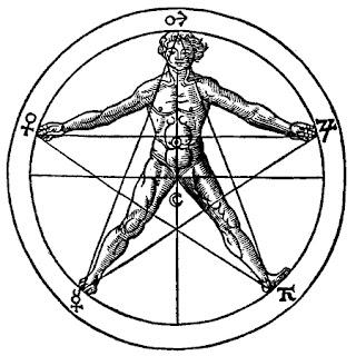 uomo pentagramma
