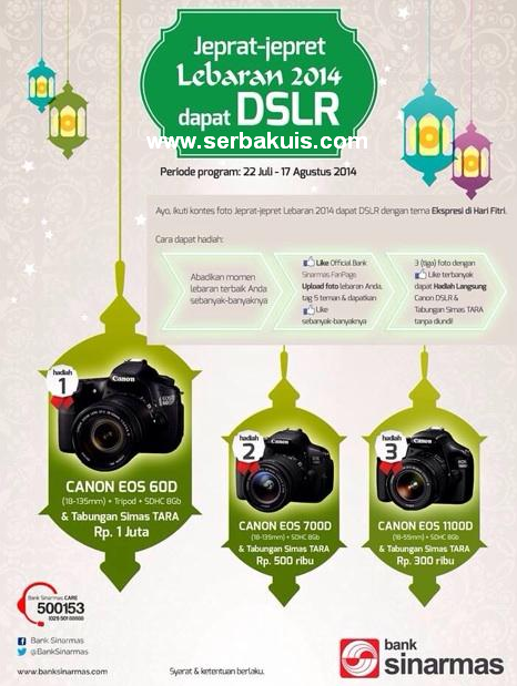 Kontes Foto Lebaran Berhadiah 3 CANON DSLR Camera