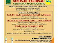 Seminar Nasional Kesehatan Haji Indonesia Solo 12 Maret 2017