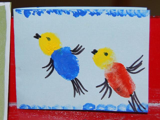 Thumbprint birds