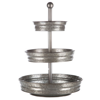 Galvanized tiered tray under $25